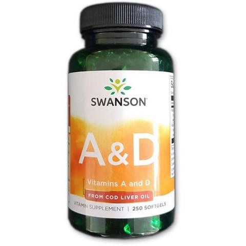 A és D vitamin halolajból 250db kapszula (Swanson)