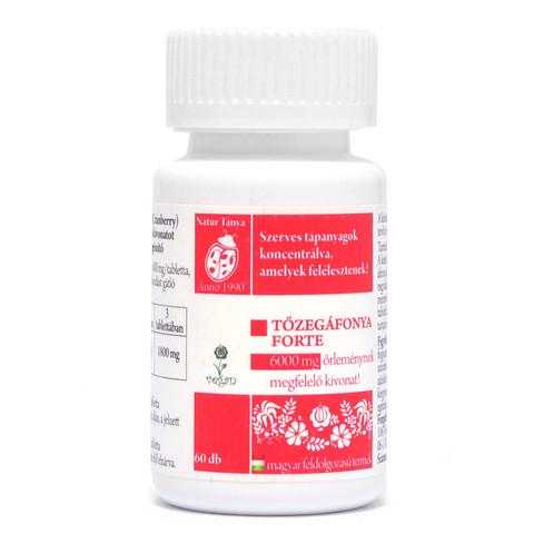 NaturTanya Szerves Tőzegáfonya forte tabletta 60db