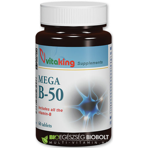 Vitaking Mega B-50 komplex Vitamin 60 db tabletta