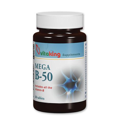 Mega B-50 komplex Vitamin 60 db tabletta (Vitaking)