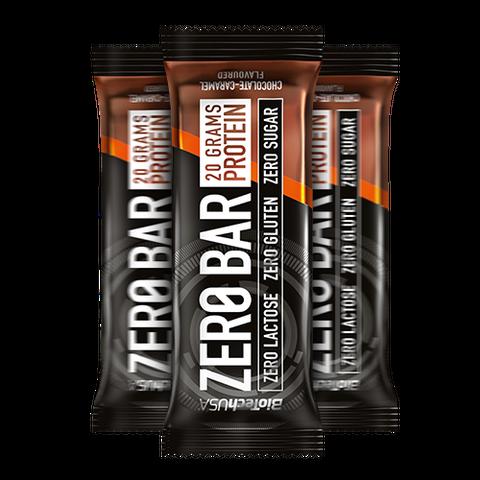 Zero Bar csokoládés-karamell ízesítésű 50 g (BioTech USA)