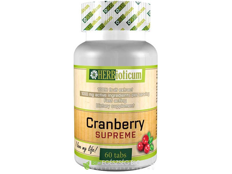 Cranberry Supreme 60 db tabletta (Herbioticum)