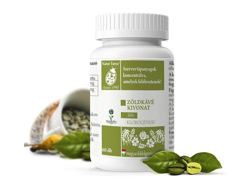 herbária zöld kávé tabletta 1 hetes fogyókúra
