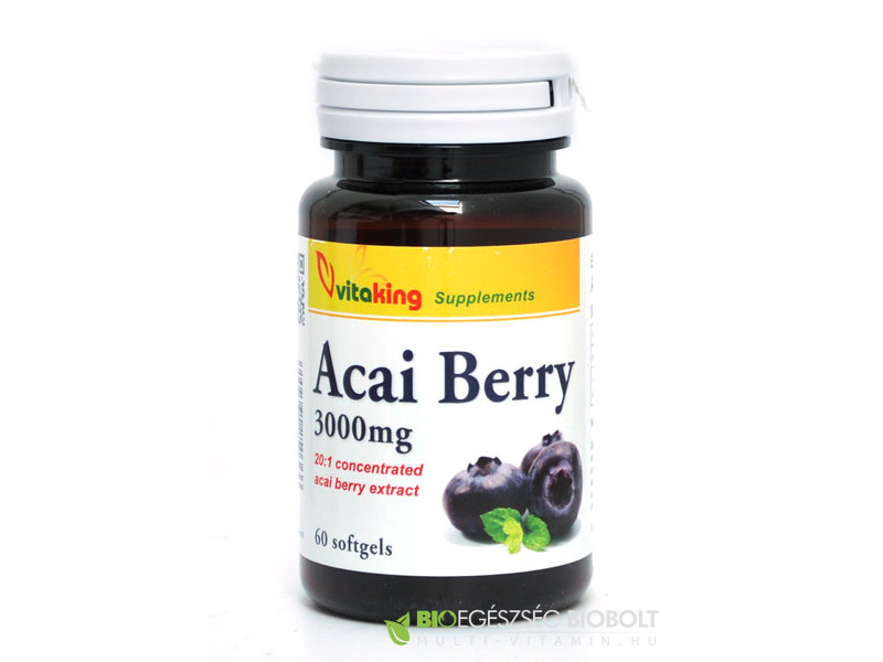 Acai Berry 3000mg 60db gélkapszula (Vitaking)