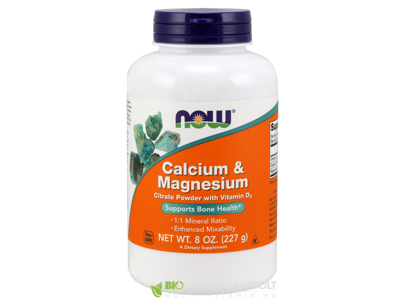 Now Calcium Magnesium Citrat 227g por