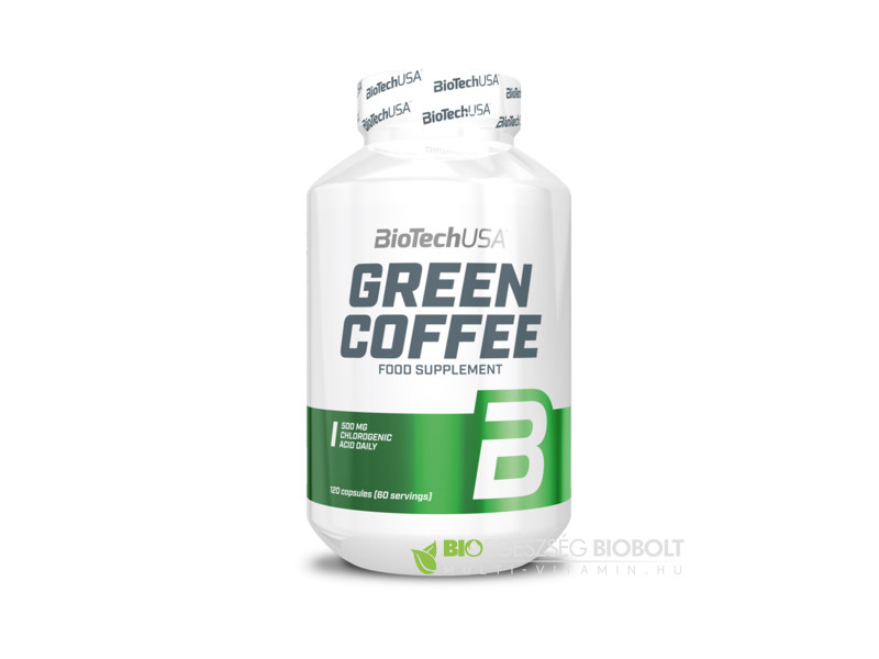 BioTech USA Green Coffee (Zöld kávé) 120 db kapszula