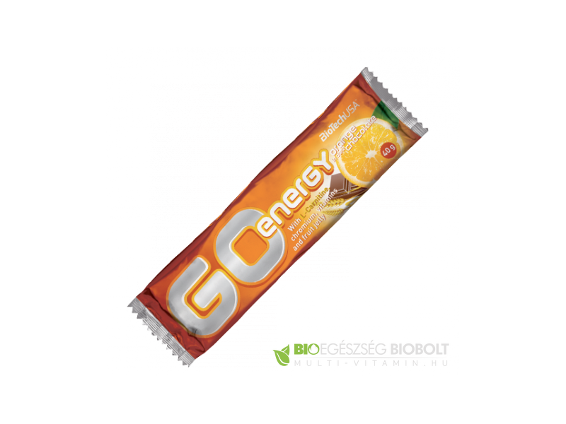 Go Energy Bar 40 g Narancsos BioTech USA
