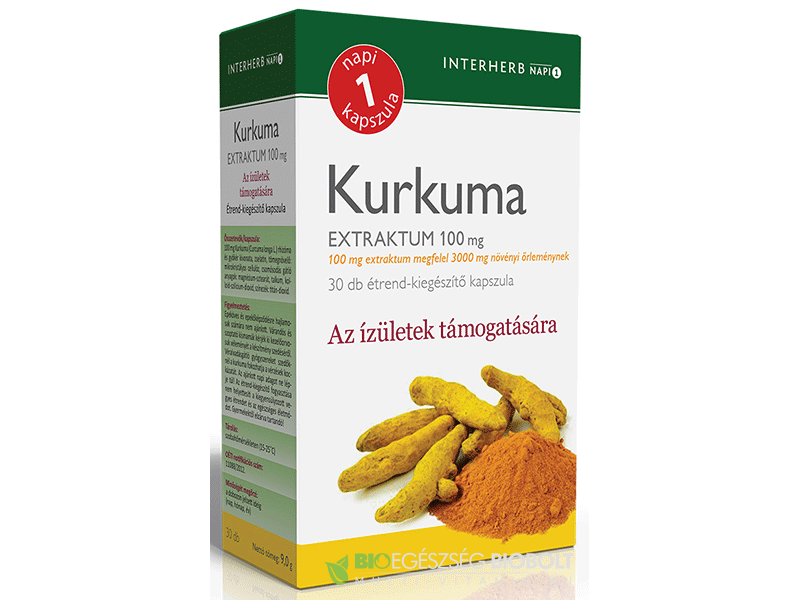 Interherb NAPI1 Kurkuma Extraktum 100mg 30 db