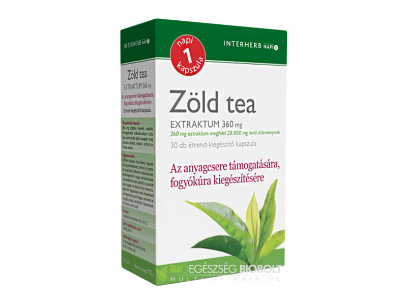 Interherb NAPI1 Zöld tea Extraktum 30 db
