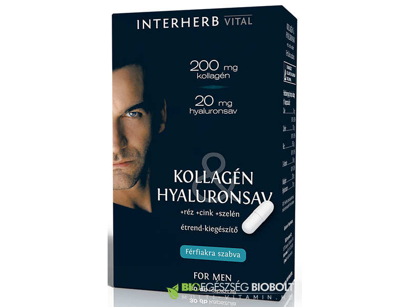 Interherb VITAL Kollagén & Hyaluronsav Men 30 db kapszula