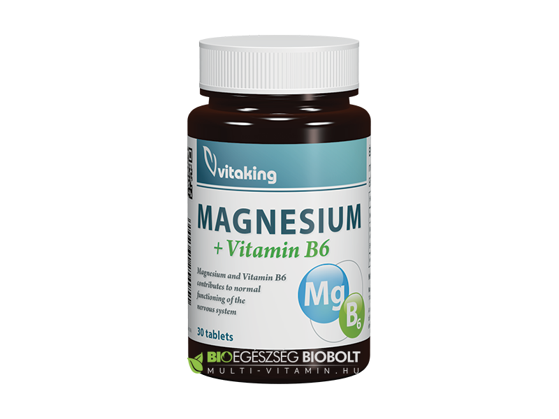 Magnesium 150 mg + B6-vitamin 6 mg tabletta 30 db