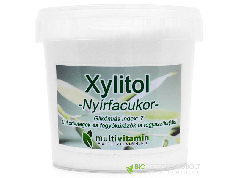 Xylitol nyírfacukor 1kg Multivitamin