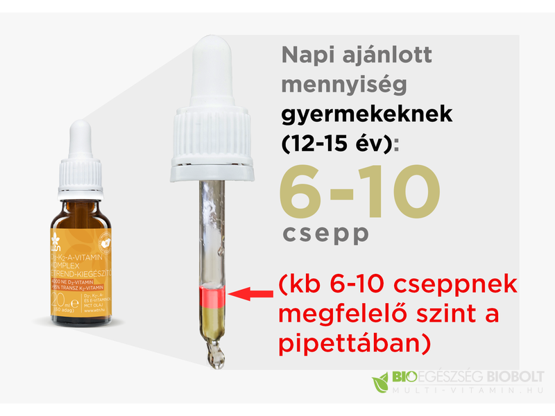 WTN D3-K2-A-Vitamin csepp 20ml