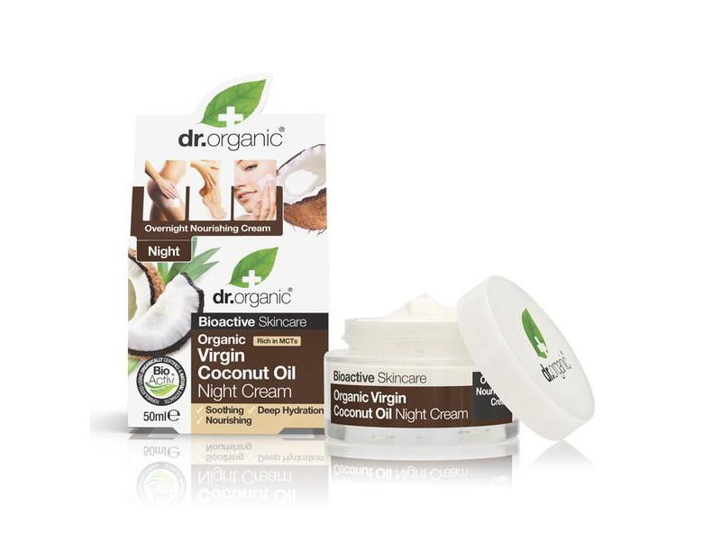 1f3b0e3aed Dr. Organic Bio Szűz Kókuszolajos éjszakai krém 50ml - Multi-vitamin ...