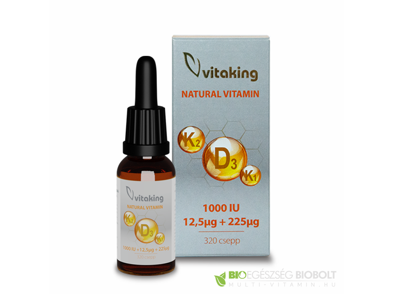 Vitaking D3+K2+K1 vitamin csepp 10ml