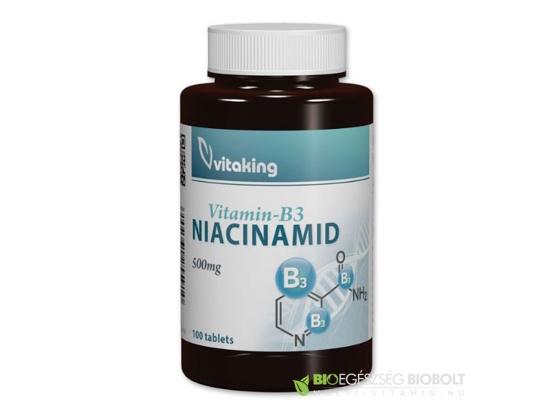 Vitaking Niacinamid 500mg tabletta 100db