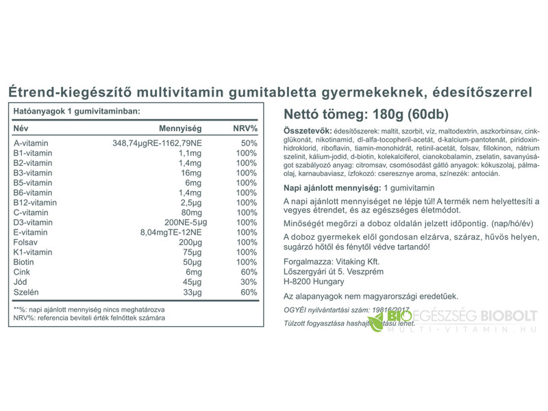 Vita-Multi (60) gumivitamin
