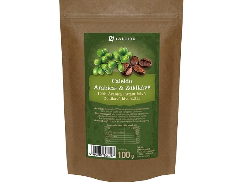 Caleido Arabica- és zöldkávé, instant, 100g